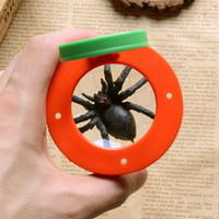 Wholesale toy bugs insects - Bug Box Magnify Insects Viewer 2 Lens 4x Magnification Magnifier Childs Kids Toy Entomologists Free Shipping