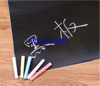 Wholesale 45x200cm Chalkboard Self Sticker Removable Whiteboard Home Decals Presentation Board DIY With Marker Pen Whiteboard