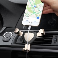 Wholesale Cell Phone Car Mount Vent - Universal Cell Phone Holder Gravity Multi Function Air Vent Creative Aluminium Alloy Metal Car Mount for Smart Phone GPS