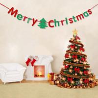 ingrosso allegro natale colorato-Decorazioni natalizie Buon Natale Lettere Pennant Flag Banner Home Decor per feste Carta colorata Articoli per feste Giornata decorativa