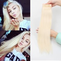 Wholesale 613 Lightest Blonde - 3 Bundles Color 613 Lightest Blonde Bleach Blonde Remy Hair Extensions Silk Straight Body Wave Deep Curly Quality Brazilian Human Hair Weave