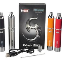 Single black dual - Authentic Yocan Evolve Plus Kit mAh Battery Wax Vaporizer Whit Quartz Dual Coil Stealth Dab Vape Pen