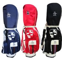 Wholesale Blue Staff - Penguin golf cart bag unisex golf bag red blue black canvas golf staff bag