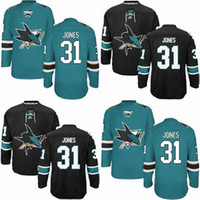 Wholesale Cheap Sport Jerseys Authentic - Factory Outlet, Cheap Wholesale San Jose Sharks Martin Jones #31 Hockey Jersey Authentic (GREEN BLACK)Men's Martin Jones Sport Jersey,S