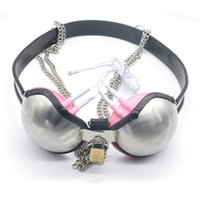 Wholesale Cock Bird Cage - Prison Bird Stainless Steel Male Chastity Belt Chastity Cock Cage Stainless Steel Bra female Male Chastity Controlled Toys A189