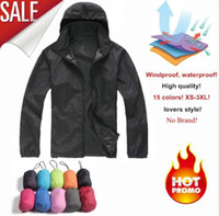Wholesale skin jacket brown online - Men s Quick Dry Skin Jackets Women Coats Ultra Light Casual Windbreaker Windproof Men Brand Clothing Colors