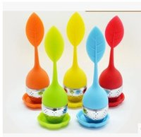 Wholesale Eco Fruit Bags - Silicone Tea Strainers Infuser Fruits Creative Tea Strainers With Stainless Steel Tea Filter Food Grade Silicone Tea-leaves bag Free DHL