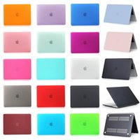 Wholesale Macbook Cover 15 - For Apple Macbook Air Pro Retina 11 12 13 15 inch with Touch Bar Frosted Surface Matte Hard Cover Case