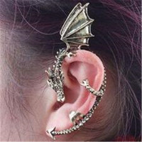 Wholesale Infinite Earrings - Punk Earring Jewelry Personality No Exaggeration Dragon DHL Pierced Cuff Ear Clip Charm Infinite Ear Clip
