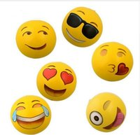 "Wholesale Large Inflatable Toys - Emoji Beach Ball For Adults Kids Inflatable PVC 12"" Family Holiday Summer Party Favors Swimming Pool Toys DHL Free Shipping"