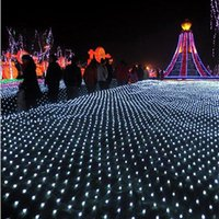 Wholesale Chipping Net - Big curtain lights 10*8m Net LED String light 1920pcs chip led lights Christmas ornament lights Flash Colored Fairy wedding Decor