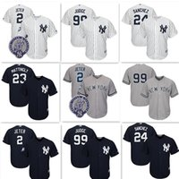 Wholesale Cheap Yankees Jersey - New York Yankees 99 Aaron Judge Jersey Cheap 2 Derek Jeter 24 Gary Sanchez Baseball Jerseys Cool Base stitched Embroidery Jersey