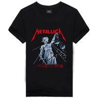 Wholesale Iron Man Guns - Wholesale- Iron Maiden AC DC Metallica The Beatles Nirvana Guns N Roses Rock 3D Printed Men's T Shirt Hip Hop Famous Brand