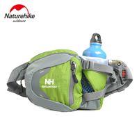 Wholesale Waterproof Bag 3l - Wholesale-NatureHike Running Waist Belt Bag 3L With Water Bottle Kettle Holder Riding Bike Cycling Bicycling Walking Waist Pack Waterproof