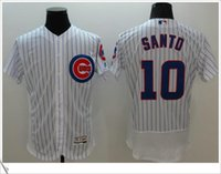 Wholesale Cheap Sport Patches - Chicago Cubs #10 Ron Santo 2016 World Series Champions Patch Stitched Flexbase Cool Base Embroidery Men's Cheap Baseball Sports Jerseys shop