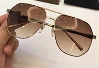 Wholesale Eye Stripe - gold brown sunglasses for men black Frame Red Stripe Fashion sunglass luxury brand sunglasses new with box