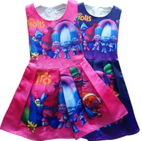 Wholesale hot sale new Vestidos de Marca Vestido de Princesa Dress Kids Clothes Trolls Vestidos Infantis Niños ropa de Vestir