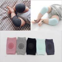 Wholesale knee pad toddler elbow resale online - Baby Cotton Socks Kids Knee Protector Anti Slip Knee Pads Newborn Safety Crawling Elbow Raglan Sleeves Toddler Leg Warmers Leggings B2790