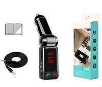 ingrosso orecchie pro oro-Radio FM del trasmettitore di Bluetooth del giocatore di musica del corredo MP3 dell'automobile di 2 pc nuovi con 2 porta USB Trasporto libero