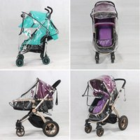 Wholesale Rain Cover Baby - Wholesale- Universal Baby Canopy Waterproof Rain Cover Wind Shield Most Stroller Pushchairs L07