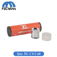 Wholesale C4 Atomizers - Original Ijoy Limitless XL Light Up Chip Coil XL-C4 0.15ohm Coil Head Replacement Octuple Coil Head for Tank Atomizer