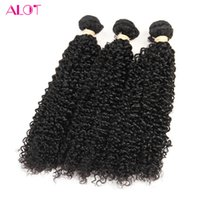 ALOT 2017 Indian Virgin Kinky Curly Weave 100% Cabelo Humano Bulk 3-4 Pacotes 100% Unprocessed Deal Extensões Suaves e Suaves 8-28 Inch