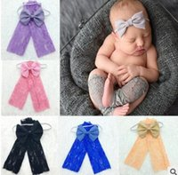 special photography - Leg Warmers Baby Lace Photography Props Flower Headband Infant Newborn Toddler Lace Photography Photo Props Accessories DHL