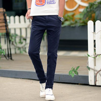 Wholesale Good Trousers - Good A++ Summer thin cotton leisure young men stretch small straight Slim wild trousers tide PM014 Men's Pants