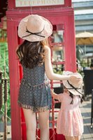 Wholesale Sweet Garden Girl - Trendy fashion personality creative hot fresh sweet parent-child hand-woven sunscreen shade hollow straw hat