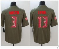 Wholesale Bay 13 - #3 Jameis Winston 13 Mike Evans American College Tampa Bay new Salute to service Football Stitched Shirts Embroidery Men Sports Team Jerseys