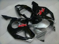 Wholesale Cbr 954 Plastics - ABS Fairing CBR 954RR 2003 Plastic Fairings CBR 954 RR 03 Black Silvery Fairing Kits for Honda Cbr954RR 2002 2002 - 2003
