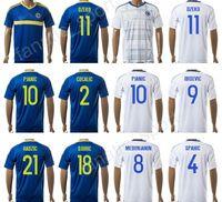 Wholesale Bosnia Herzegovina - Bosnia and Herzegovina Jersey 17 18 Soccer 9 Vedad Ibisevic Football Shirt 10 Miralem Pjanic 8 Haris Medunjanin 11 Edin Dzeko 4 Emir Spahic