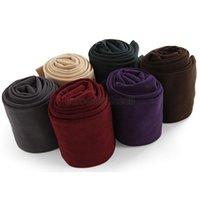 Wholesale Trendy Leggings Wholesale - Wholesale- Women Trendy Beautiful Velvet Trample Feet Leggings Stretchy TQ