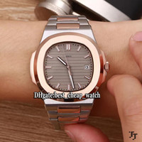 Wholesale Gents Bracelets - High Quality New Cheap PP Nautilus 5711 5711 1 Gray Dial Automatic Mens Watch Rose Gold Two Tone Stainless Steel Bracelet Gents Watches