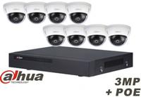 Wholesale Onvif Camera Recorder - Original English Dahua 8ch waterproof IPC-HDBW1320E 3MP dome POE onvif IP camera kit with 8POE NVR recorder with HDBW1320E