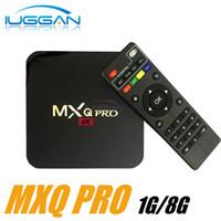 Wholesale M8 Pro - 5PCS best mxq pro m8 m8s mxq Android 6.0 ott tv box amlogic s905 4k firmware google play store app download