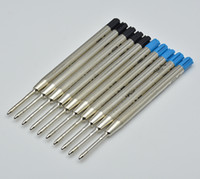 Wholesale Refill Accessories - hot sell 10pcs Lot black   blue 0.7mm Pen Refills for mb ballpoint pen stationery writing smooth pen accessories