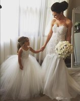 Wholesale Gown For Kids Color White - Puffy Dresses for Kids Prom 2017 Free Shipping Vestidos Para Meninas Spaghetti Straps Ball Gown White Tulle Flower Girl Dresses