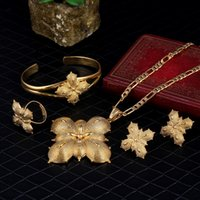 Wholesale gifts for gf - Sky talent bao Girls Ethiopian Jewelry Set 24k Gold GF Sets For African  Ethiopian  Eritrean  Habesha Jewelry Sets N B R E 4