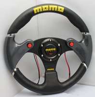 Wholesale Momo Race - Hot 2017 new three 13-inch speakers modified MOMO racing PVC Universal steering wheel red   black high quality free shipping