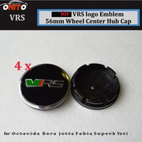 Wholesale Skoda Caps - Hot sale 56mm 2.20inch Auto Wheel Logo Cover ABS Aluminum Car Wheel Emblem Cap For VRS skoda Octavida Bora Jetta Fabia Superb Yeti