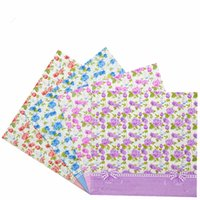 Wholesale Blue Napkins Paper - New beautiful Vintage Decoupage Paper Napkin tissue blue pink purple rose wedding party cocktail salon festive towel Guardanapo serviette