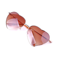 Wholesale Heart Shaped Sunglasses Fashion - Wholesale- Fashion Sunglasses Heart Shaped Women metal Summer Reflective UV Sun GLASSES Men Vintage Mirror Hot Sale A1&60
