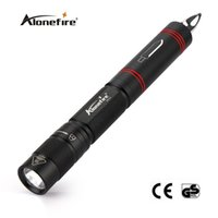 Wholesale Pen Drive White - AloneFire BK02 XPE Q5 LED Multifunction Flashlight Torch Tactical with Pen Knife Self Defense Tool mini Black Torches Portable Lighting