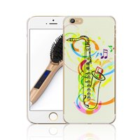 """Wholesale Iphone Hard Case Music - Music Saxophone 3D UV Printing Design PC Hard Back Protective Skin Cover Case For Apple iPhone 6 6S 4.7"""" New"""