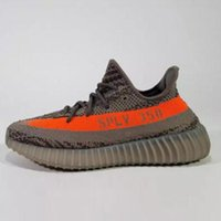 Wholesale Copper Box Arts - SPLY 350 boost V2 2016 Newest BY9612 BY1605 Black Red Copper Green Bred Boost 350 running shoes Grey Orange running Shoes