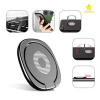 durmak toptan satış-Yeni Lüks 360 Derece Metal Parmak Yüzük Tutucu Smartphone Cep Telefonu parmak Standı Tutucu ile iPhone 7 6 Samsung Tablet Için Paket