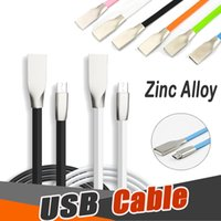 Wholesale usb charger shapes - Zinc Alloy USB Cable 1M 3.3ft Shaped Rhombus TPE Cable Tangle High Speed Charger Cable Data Charging Micro Cord Adapter For Android Phone