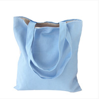 Wholesale Healthy Bag Pack - Wholesale- Eco Reusable Shopping Bags 2016 Cloth Fabric Grocery Packing Recyclable Bag Hight Simple Design Healthy Tote Handbag 8 Colors