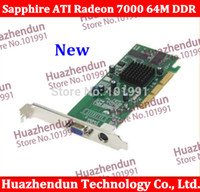 Wholesale Agp Video Cards - Wholesale- Best choice for low end AGP video card Brand New Sapphire ATI Radeon 7000 64M DDR VGA TVO free shipping